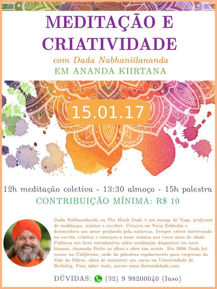 Meditação e Criatividade com Dada Nabhaniilananda
